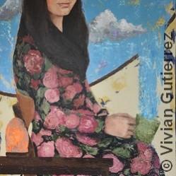 Lamp in the Rain by Vivian Gutierrez