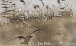 Shore Birds in Gold by Vickie Peterson Michalak