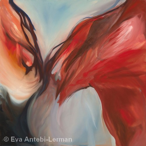 Horse Kiss | Oil | 30x30"