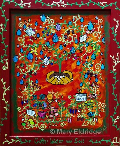 "Gifts - Water & Soil   Acrylic   22x18""   NFS   Mary Eldridge"