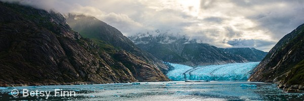 HONORABLE MENTION: Alaskan River of Ice | Photography | 10x30"