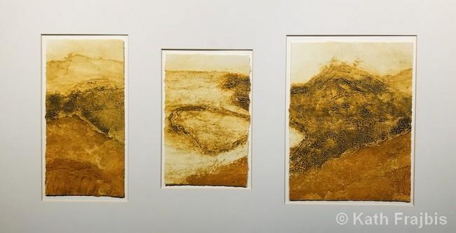 "National Park: Portugal   Collagraph   18x32""   $355   Kath Frajbis"