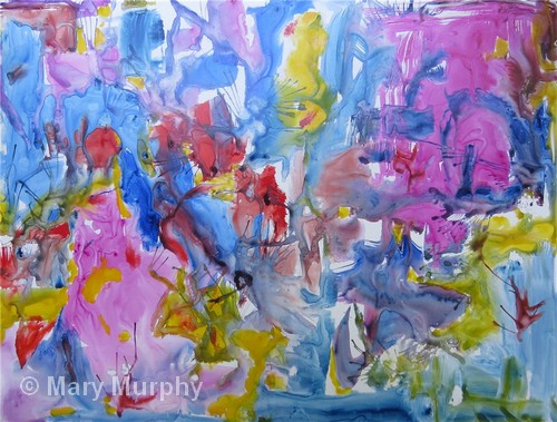 """Summer Explosion   Watercolor   20x26""""   $450   Mary Murphy"""