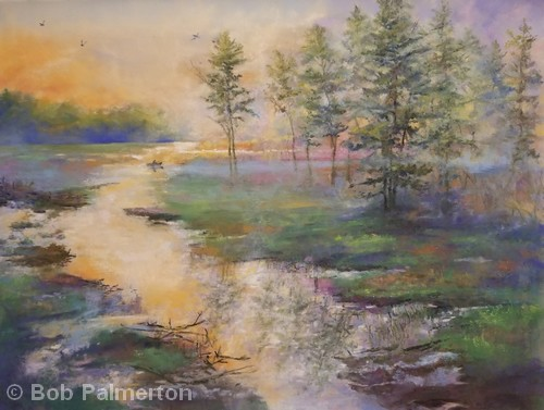 HONORABLE MENTION: Heat Wave | Pastel | 18x24"