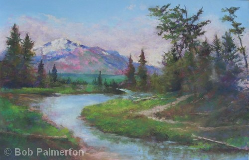 Purple Mountain Majesty | Pastel | 12x18"