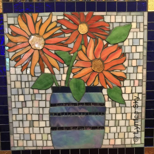 Mexican Sunflowers | Mosaic | 17x17"