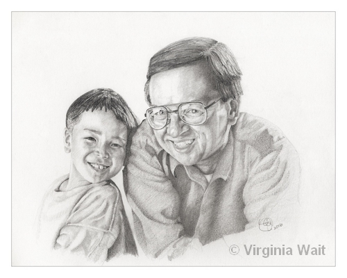Father and Son Across Boundaries | Graphite Pencil | 11 x 14"